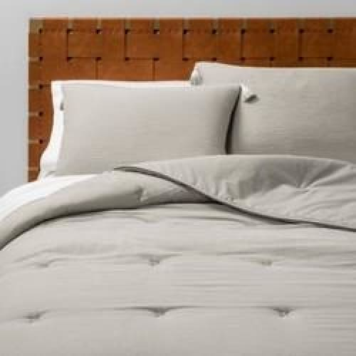 Gauze Tasseled Comforter Set - Gray - Size: Full/Queen - Bedding