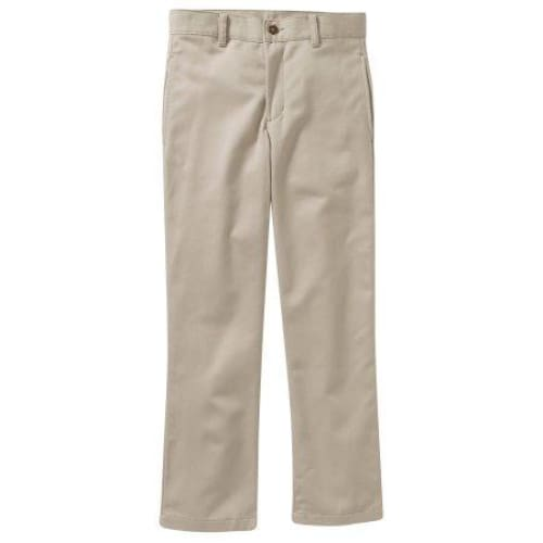 George Boys Reg Husky Flat Front Twill Pant With Scotchguard - Keuka Outlet