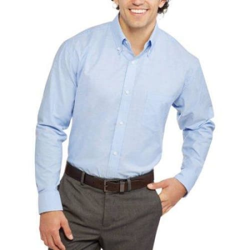 George Mens Long Sleeve Oxford Shirt - S(34-36) / Blue - Mens clothing
