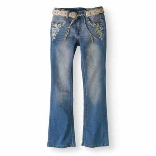 Girls' Bootcut Jeans - 8 / Light Wash