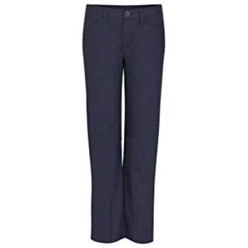 REAL SCHOOL Girls Flat Front Low Rise Pants School Uniform Approved - Keuka Outlet