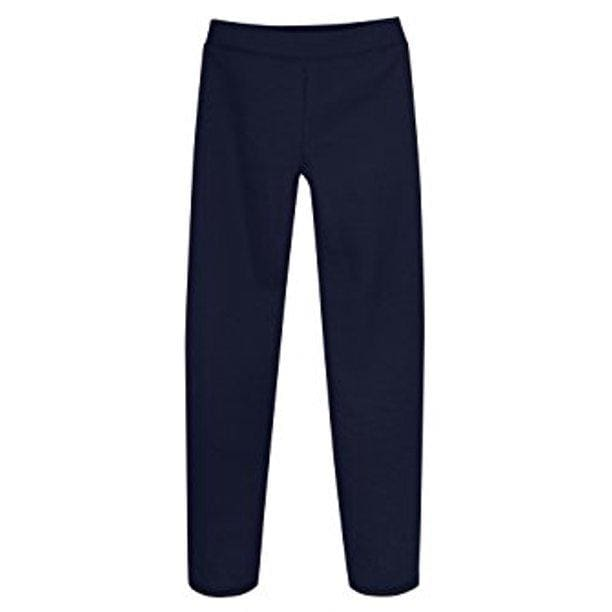 Girls' Fleece Open Bottom Sweatpants - Medium (7/8) / Navy - Clothing