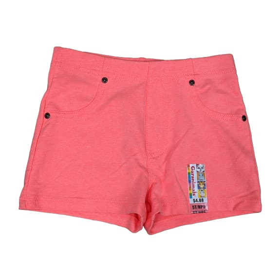 Girl's Jegging Short - 5T / Coral - Clothing