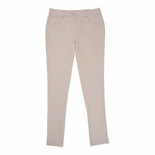 Girls School Uniform Jegging - 7 / Warm Beige - Clothing