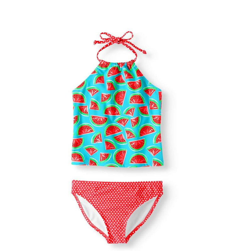 Girls' Tankini Set Wicked Watermelon 1855 Turquise Size 10 - Clothing