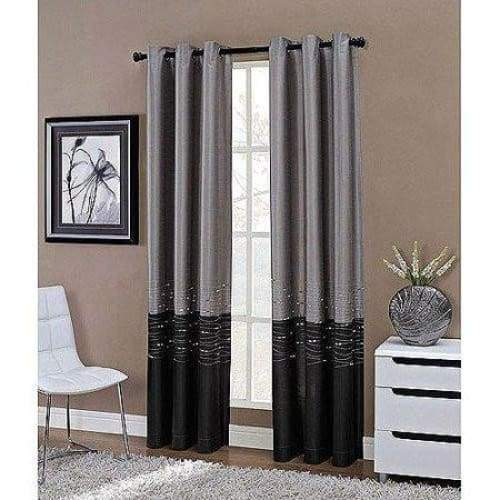 Grommet Lined Curtain Panel 50 inch x 84 inch Dipped Curtain Panel - Curtains