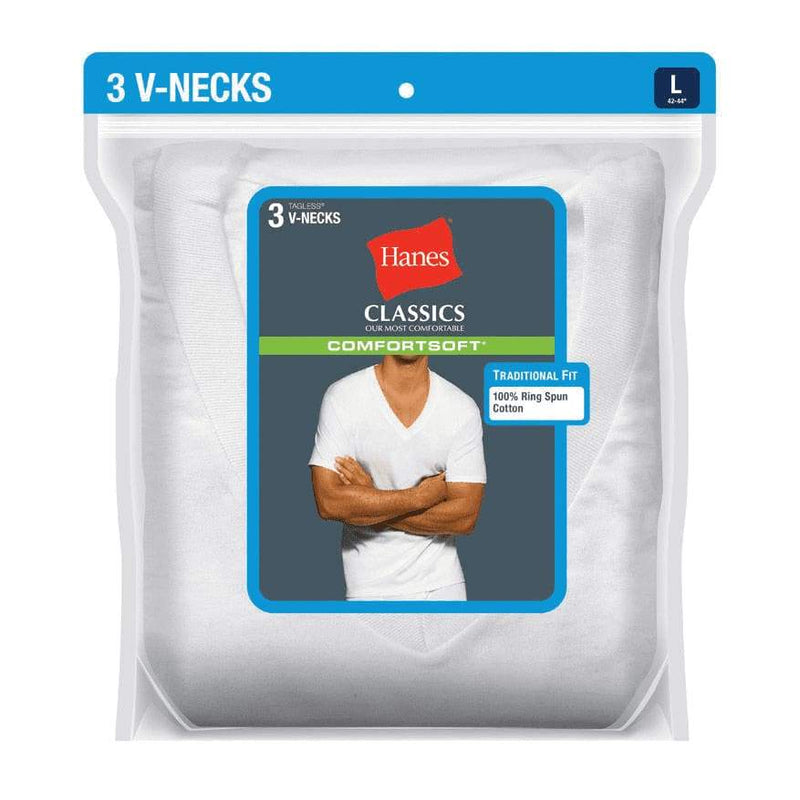 Hanes Ultimate Mens 3-Pack V-Neck Tee - Mens clothing