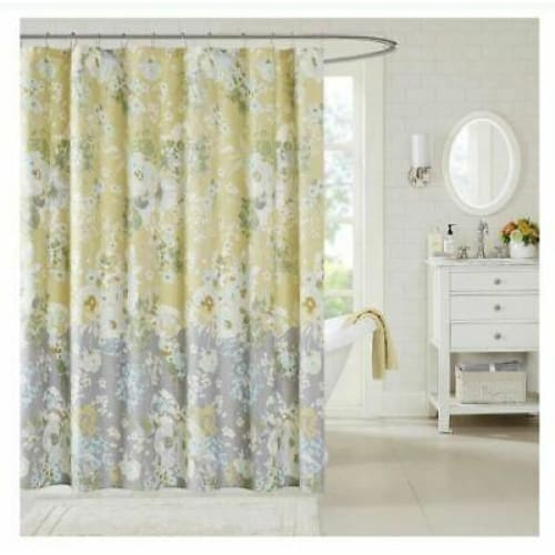 Home Essence Avery Cotton Shower Curtain - Bath