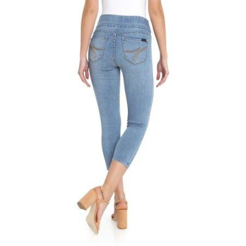 Jordache Women's Wide Waistband Pull on Jegging Crop - Keuka Outlet