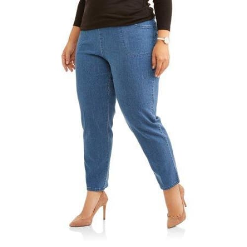 Just My Size Womens Plus-Size Pull-On Stretch Woven Pants - Keuka Outlet
