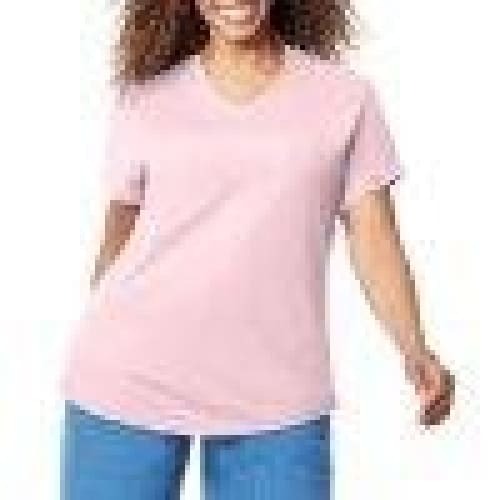Just My Size Women's Plus-Size Short Sleeve V-Neck T-shirt - Keuka Outlet