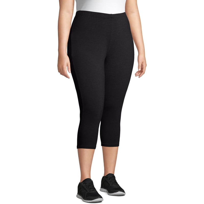 Just My Size Women's Plus Size Stretch Jersey Capri Legging - 5X / Black - Clothing