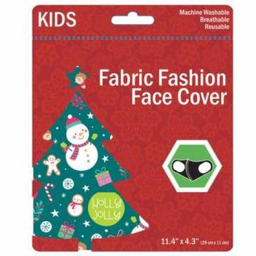 Kids Christmas Washable Face Masks - Green - Clothing