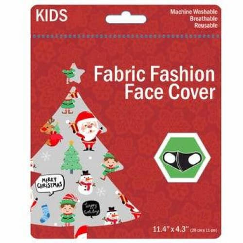Kids Christmas Washable Face Masks - Grey - Clothing