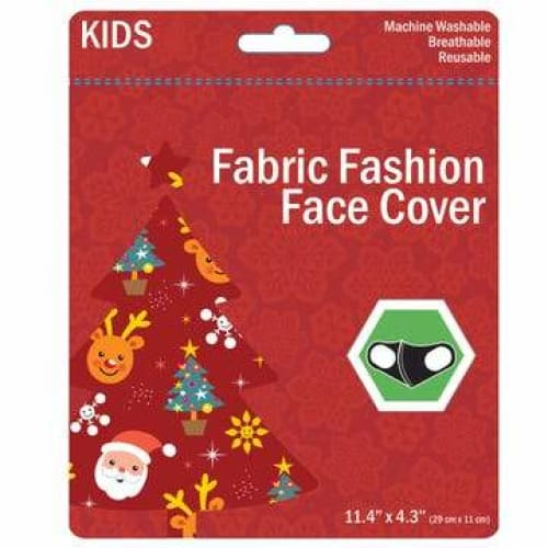 Kids Christmas Washable Face Masks - Red - Clothing