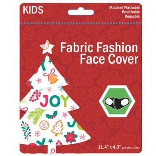Kids Christmas Washable Face Masks - White - Clothing