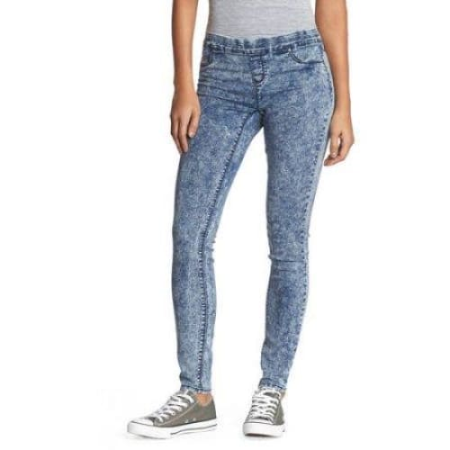 L.E.I. Juniors' Luxe Pull On Knit Denim Pants - Keuka Outlet