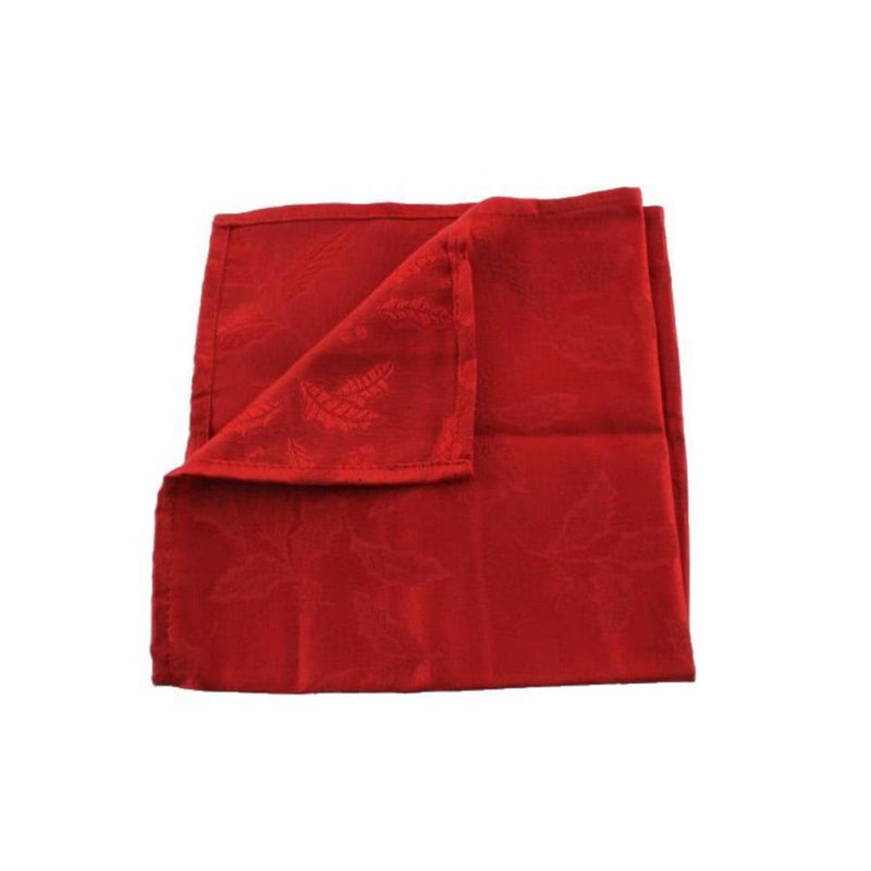 Lenox Holly Damask 19 x 19 One Cloth Napkin Red - Kitchen