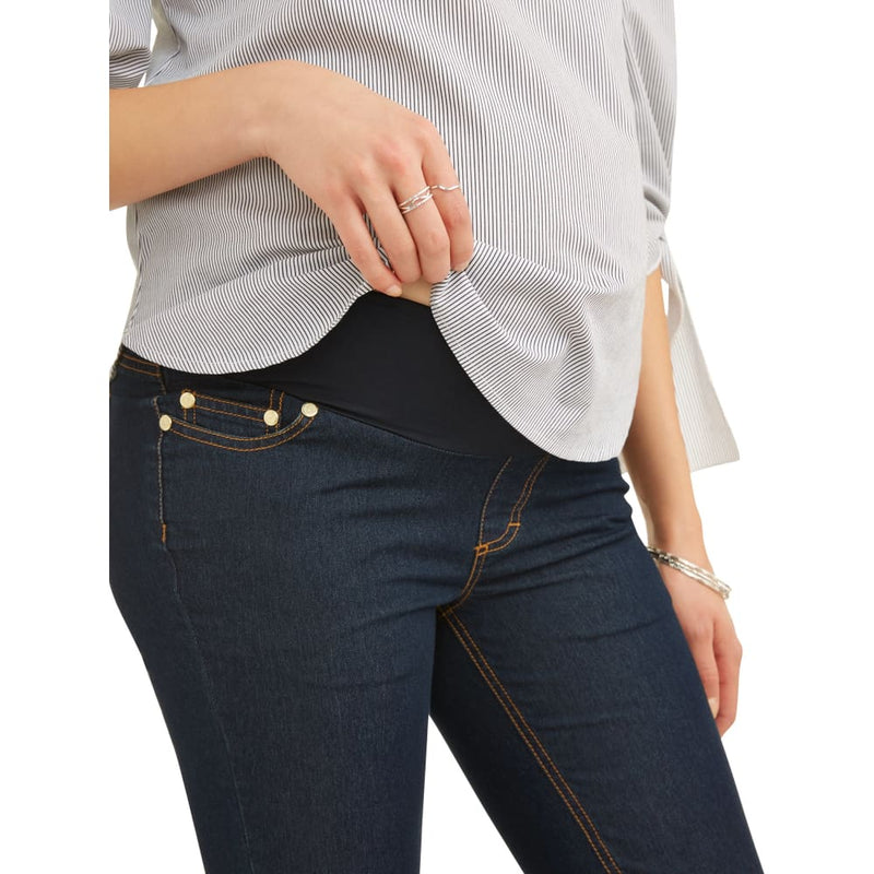Maternity Oh! Mamma Skinny Jeans with Demi Panel - Clothing