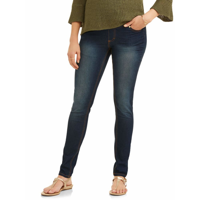 Maternity Oh! Mamma Skinny Jeans with Full Panel - 3X / Dark Wash - Clothing