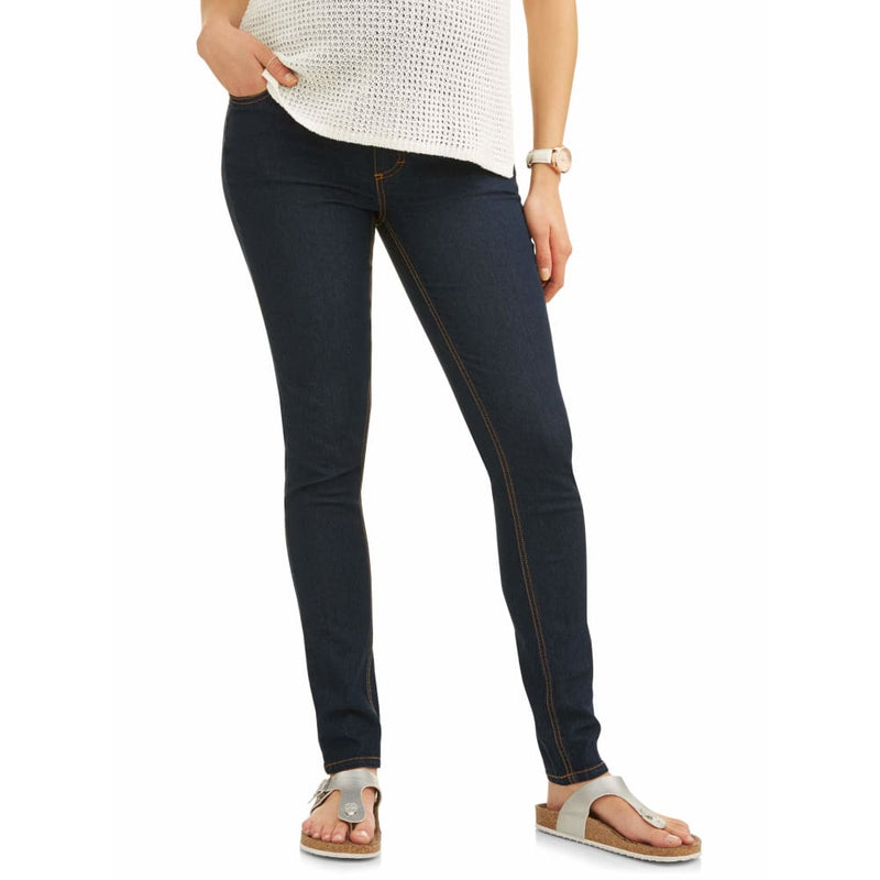 Maternity Oh! Mamma Skinny Jeans with Full Panel - 3X / Rinse - Clothing