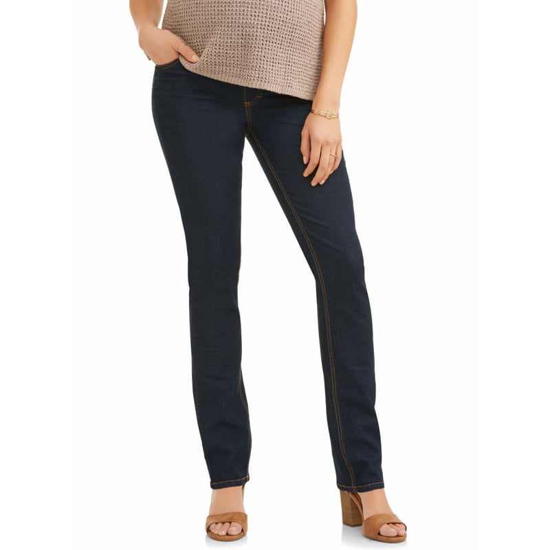 Maternity Oh! Mamma Straight Leg Jeans with Full Panel - 1X / Rinse - Clothing