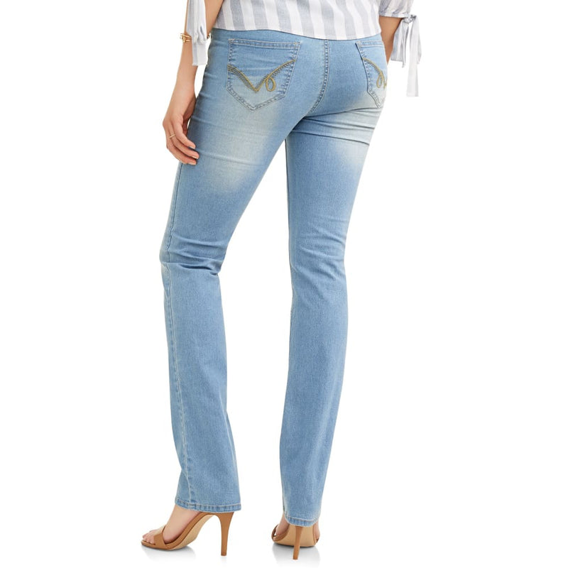 Maternity Oh! Mamma Straight Leg Jeans with Full Panel - Clothing