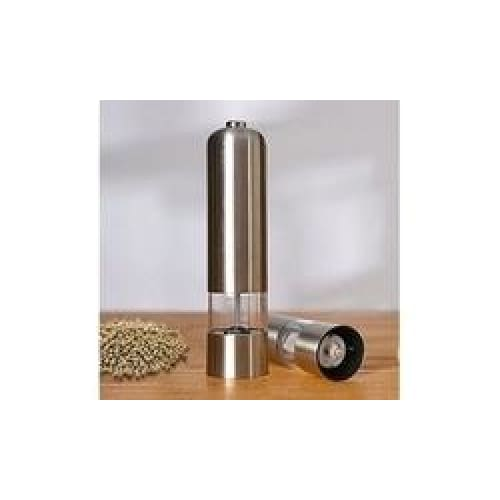 Maze Electric Salt & Pepper Grinder - Silver - Keuka Outlet