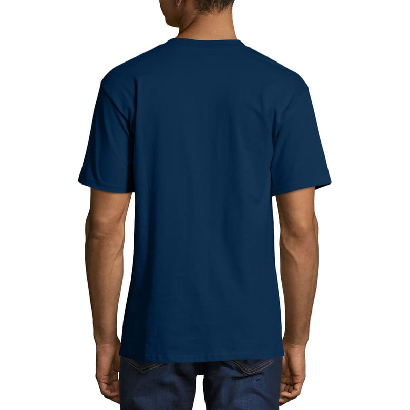 Men's and Big Men's Beefy-T Crew Neck Short Sleeve T-Shirt - M / Navy - Clothing