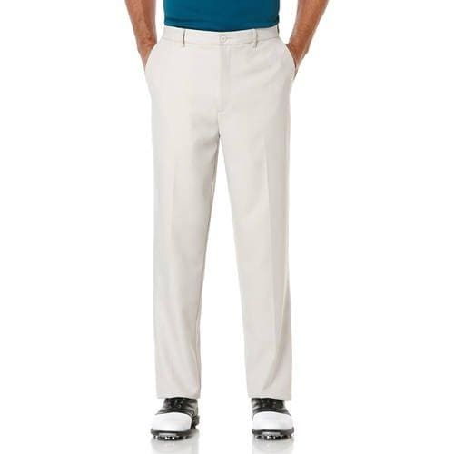 Men's Golf Performance Flat Front Expandable Waistband Pant - 32 x 30 / Stone - Clothing