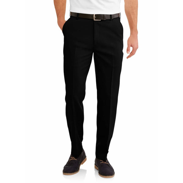 Mens Performance Comfort Flex Suit Pants - 32 x 32 / Black - Clothing