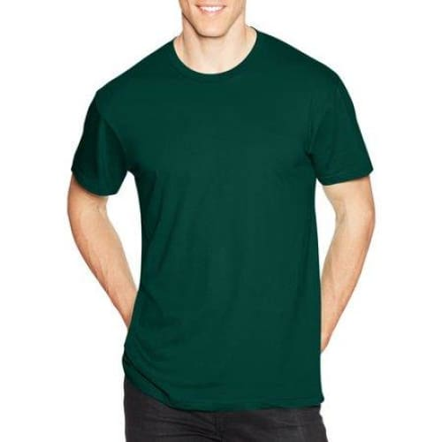 Men's Ringspun Cotton Crewneck Nano-T T-Shirt - M / Deep Forest - Clothing