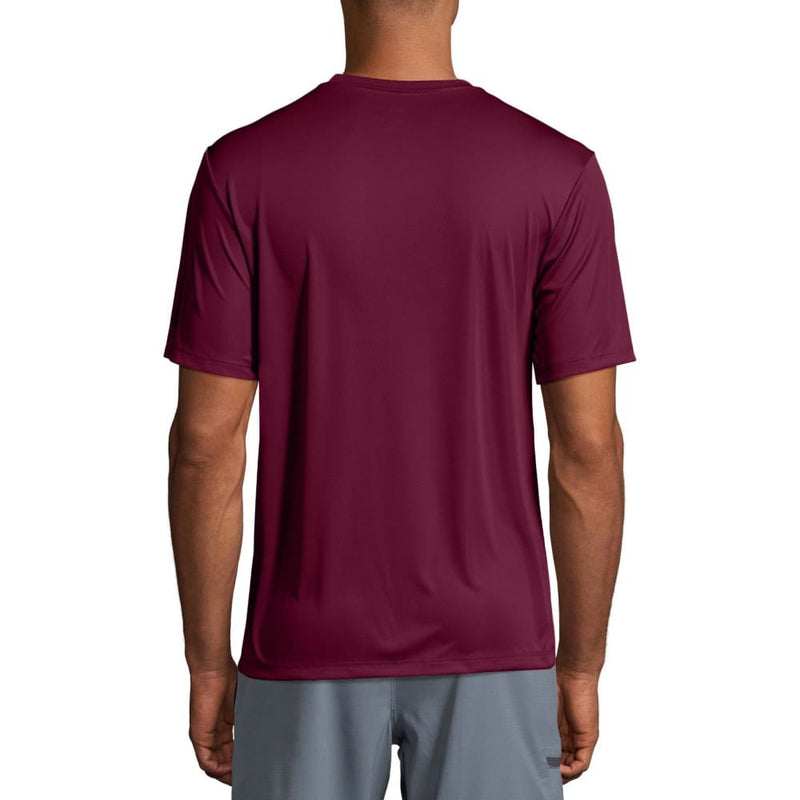 Men's Short Sleeve Cool Dri Performance Tee (50+ UPF) - S / Maroon - Clothing