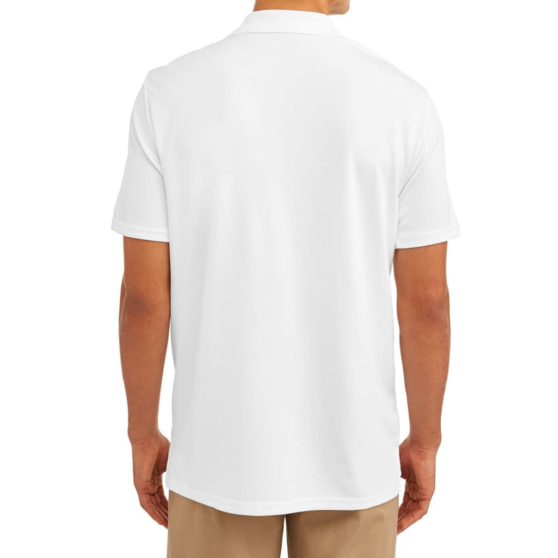 Men's Short Sleeve Performance Polo - XL (46-48) / White - Clothing
