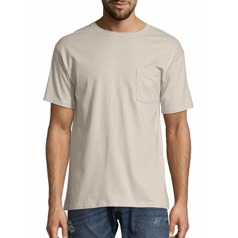 Men's TAGLESS® Pocket Short-Sleeve T-Shirt - M / Sand - Clothing