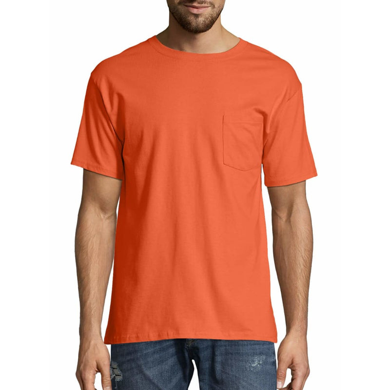 Men's TAGLESS® Pocket Short-Sleeve T-Shirt - XL / Orange - Clothing