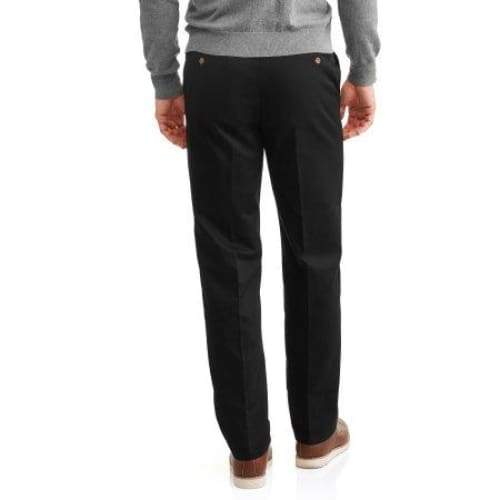 Men's Wrinkle Resistant Flat Front 100% Cotton Twill Pant with Scotchgard - Keuka Outlet