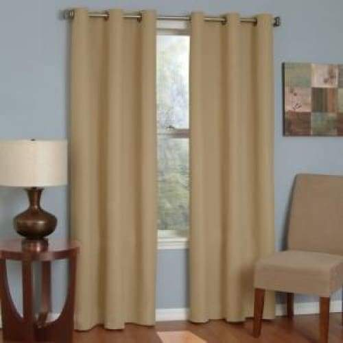 Microfiber Energy-Efficient Grommet Blackout Curtain Panel - Curtains