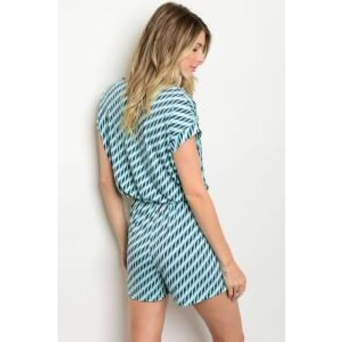 MINT NAVY ROMPER - Keuka Outlet