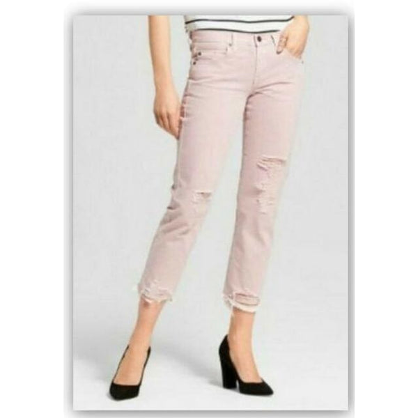 Mossimo - Women's Low-rise Destroyed Cropped Boyfriend Jeans - Keuka Outlet