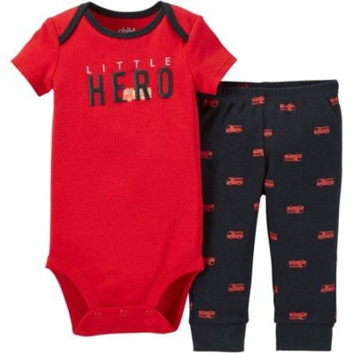 Newborn Baby Boy Bodysuit & Pant Outfit Set 2 Pcs - Clothing
