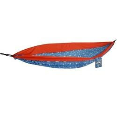 One Person Hammock in Cracked Geo - Blue/Red - Outdoors