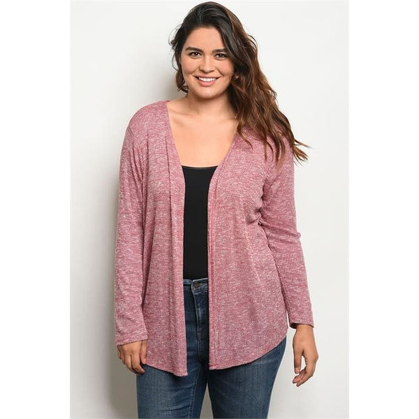 Open Front Knit Cardigan (C8434X) - Keuka Outlet