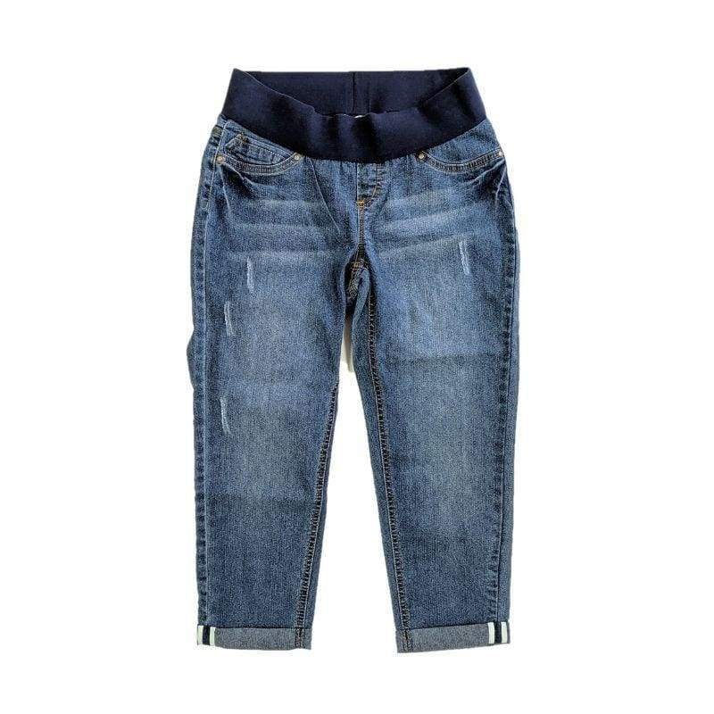 Planet Motherhood Maternity Demi-Panel Denim Capris - Keuka Outlet