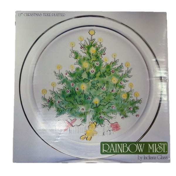 Rainbow Mist Christmas Tree Platter - Kitchen