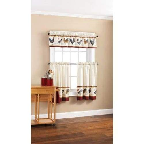 Rooster Valance and Tier Set - Keuka Outlet