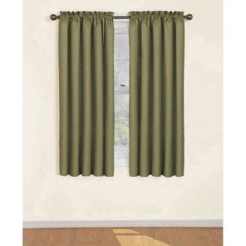 Samara Blackout Energy-Efficient Curtain - 42 x 84 / Olive - Curtains