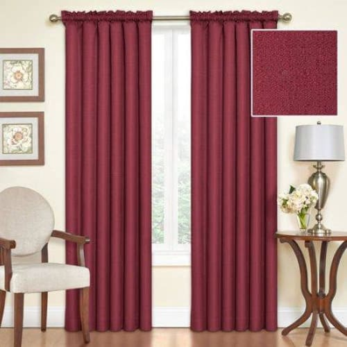 Samara Blackout Energy-Efficient Thermal Curtain Panel - 42 x 95 / Sangria - Curtains
