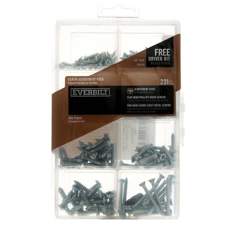 Screw Assortment Kit (231-Piece per Pack) - Keuka Outlet