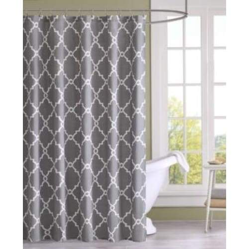 Sereno Fretwork Shower Curtain - Curtains